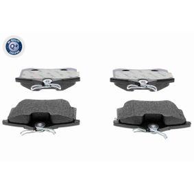 V10-8168 VAICO Q+, Erstausrüsterqualität, Hinterachse, exkl. Verschleißwarnkontakt, mit Anti-Quietsch-Blech, ohne Zubehör Höhe: 52,9mm, Breite: 87,6mm, Dicke/Stärke: 17,2mm Bremsbelagsatz, Scheibenbremse V10-8168 günstig kaufen