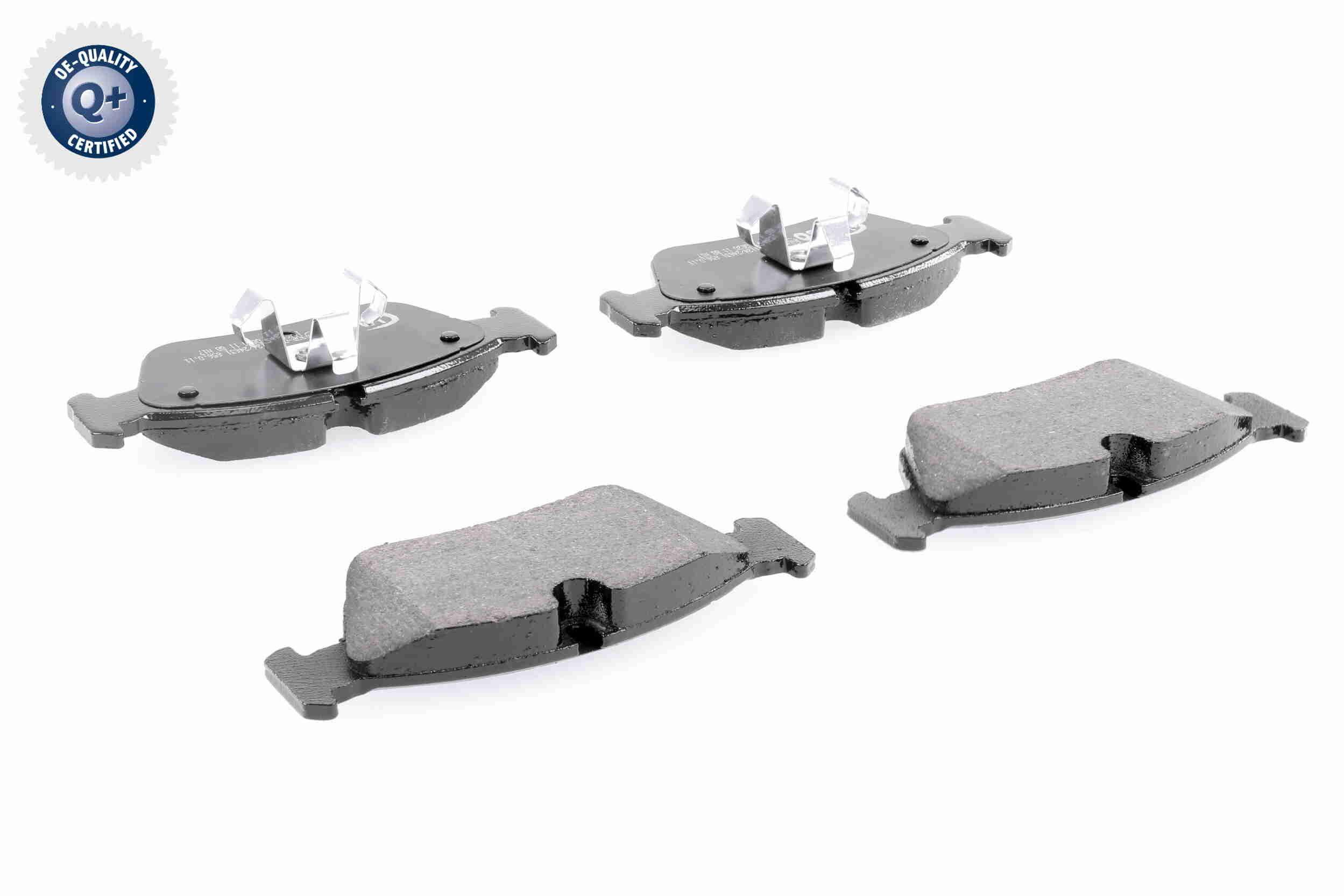 WVA23926 VAICO Q+, Erstausrüsterqualität, Hinterachse, Vorderachse, exkl. Verschleißwarnkontakt, für Verschleißwarnanzeiger vorbereitet Höhe 1: 57,3mm, Höhe 2: 57,3mm, Breite 1: 150,1mm, Breite 2: 149,3mm, Dicke/Stärke: 17,8mm Bremsbelagsatz, Scheibenbremse V20-8124 günstig kaufen
