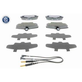 WVA21463 VAICO Q+, Erstausrüsterqualität, Vorderachse, inkl. Verschleißwarnkontakt, mit Bremssattelschrauben Höhe: 64,8mm, Breite: 100mm, Dicke/Stärke: 18,2mm Bremsbelagsatz, Scheibenbremse V46-4101 günstig kaufen