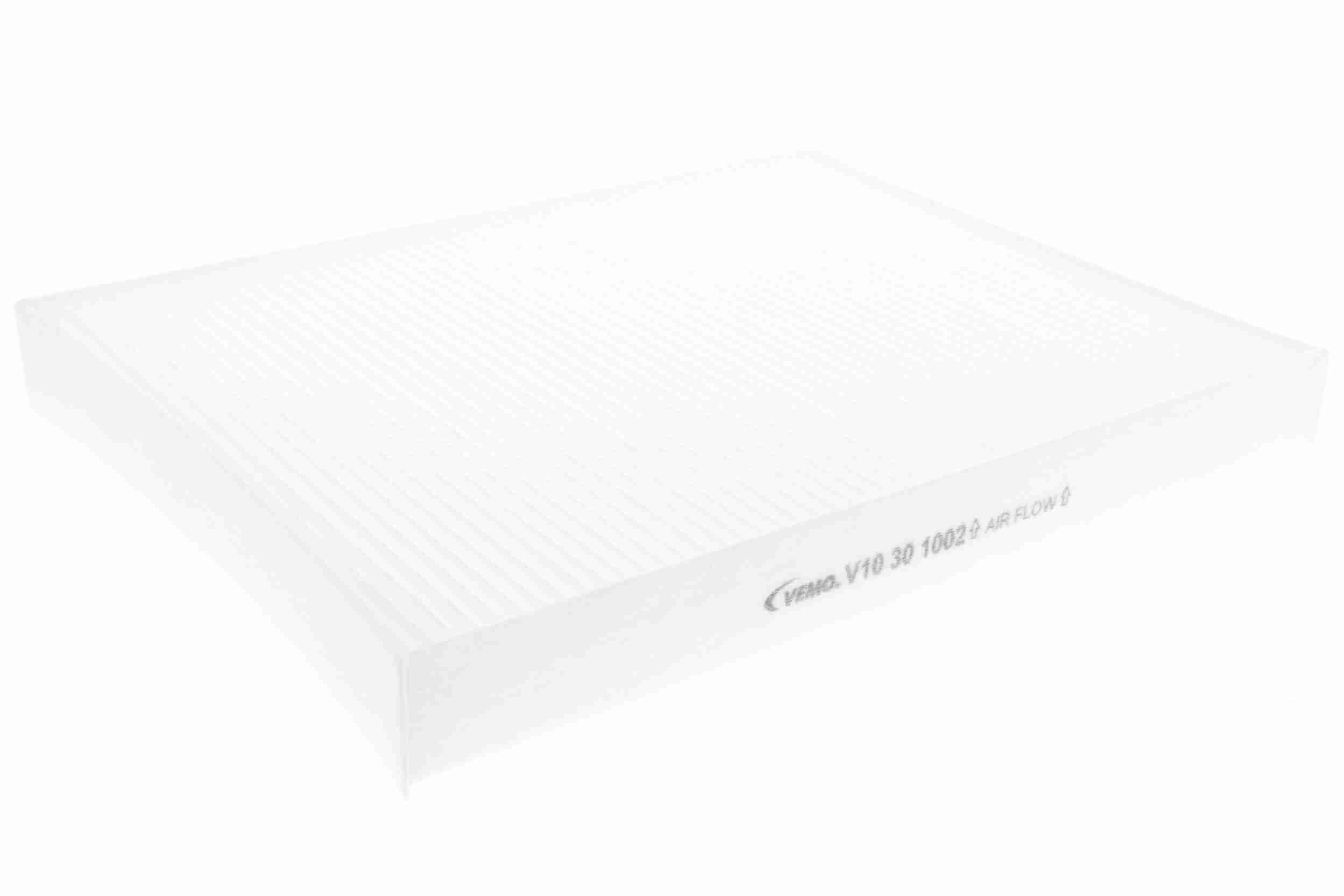 V10-30-1002 VEMO Original Quality Filtereinsatz, Pollenfilter Breite: 218,5mm, Höhe: 32mm, Länge: 278mm Filter, Innenraumluft V10-30-1002 günstig kaufen