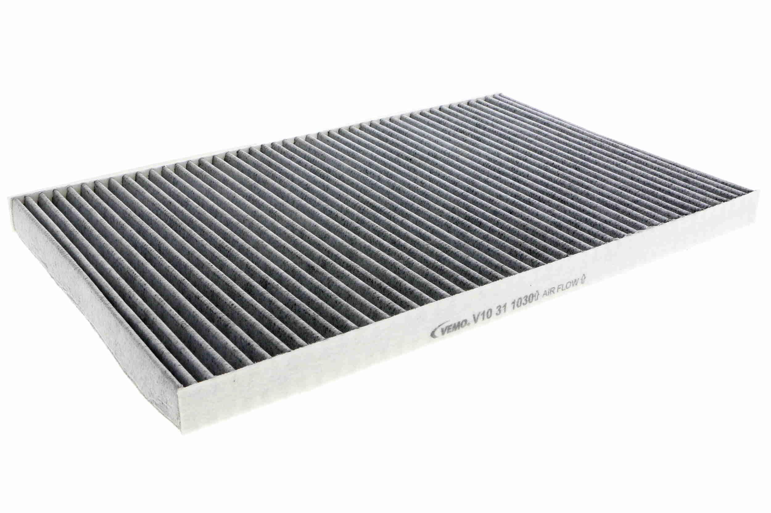 AUDI 200 1987 Kabinenluftfilter - Original VEMO V10-31-1030 Breite: 213,5mm, Höhe: 20mm, Länge: 345mm