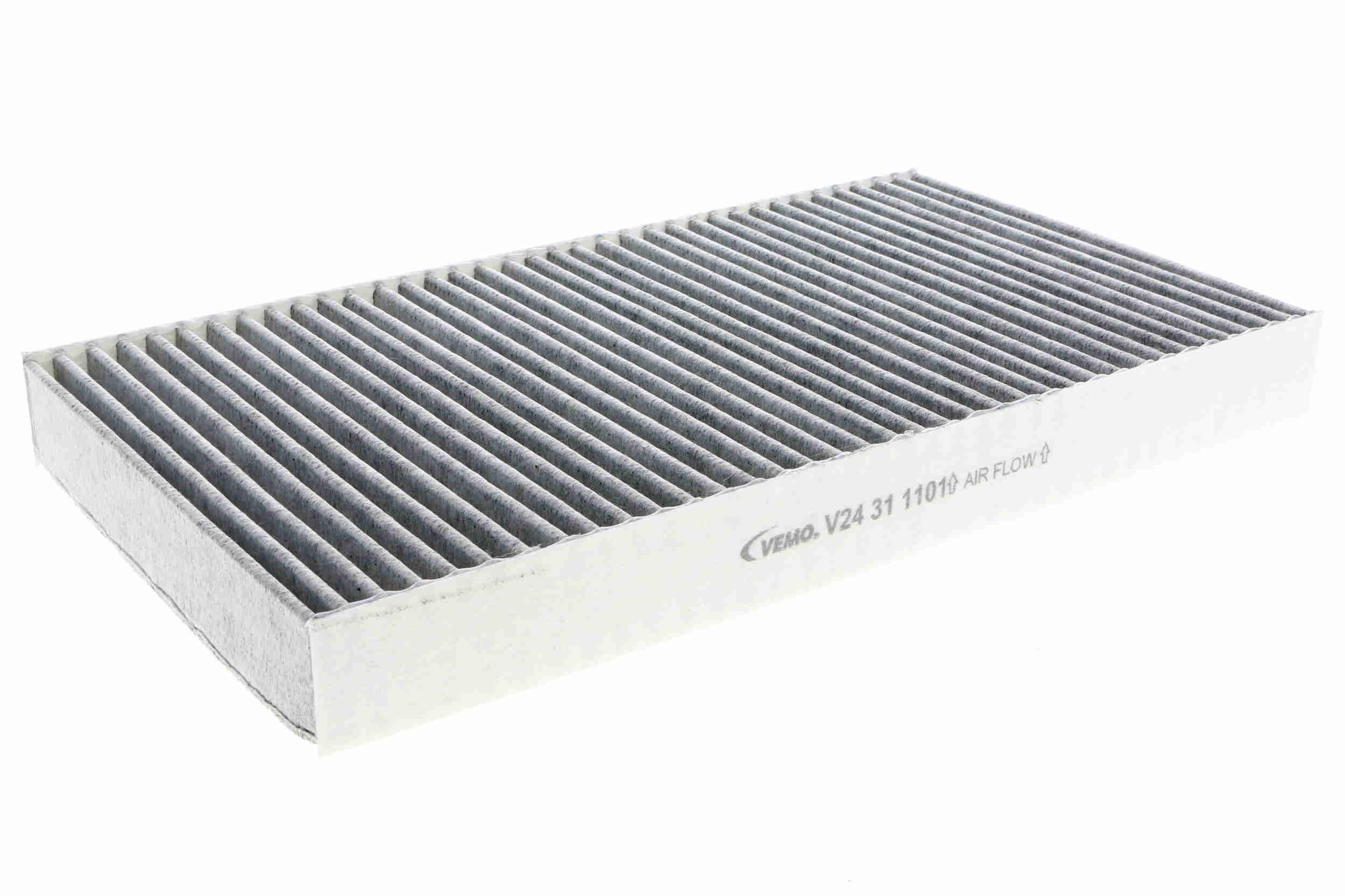 Comprare V24-31-1101 VEMO Original Quality Filtro al carbone attivo Largh.: 160mm, Alt.: 30mm, Lunghezza: 288mm Filtro, Aria abitacolo V24-31-1101 poco costoso