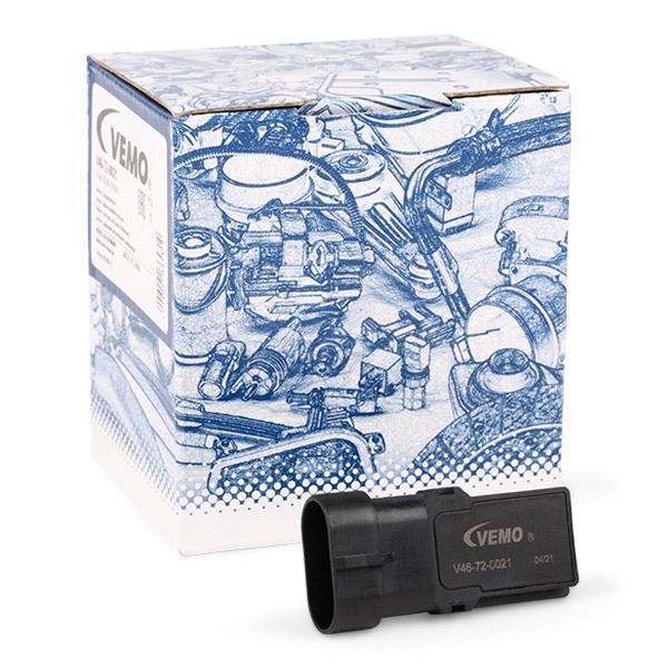 VEMO: Original Sensor, Saugrohrdruck V46-72-0021 (Pol-Anzahl: 3-polig)