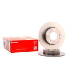 08.7165.11 BREMBO COATED DISC LINE Macizo, revestido, con tornillos Ø: 230mm, Núm. orificios: 5, Espesor disco freno: 9mm Disco de freno 08.7165.11 a buen precio