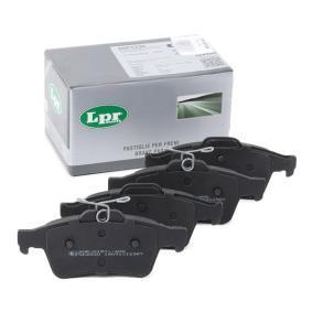 5SP1236 LPR Höhe: 51,9mm, Breite: 123mm, Dicke/Stärke: 16,6mm Bremsbelagsatz, Scheibenbremse 05P1236 günstig kaufen