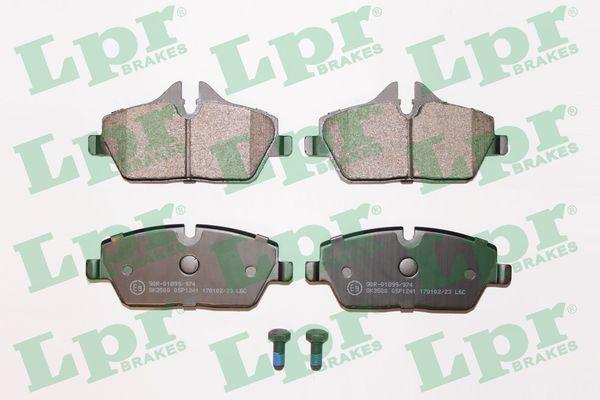 05P1241 LPR mit Schrauben Höhe 1: 53,3mm, Höhe 2: 65mm, Breite: 131,2mm, Dicke/Stärke: 17,6mm Bremsbelagsatz, Scheibenbremse 05P1241 günstig kaufen