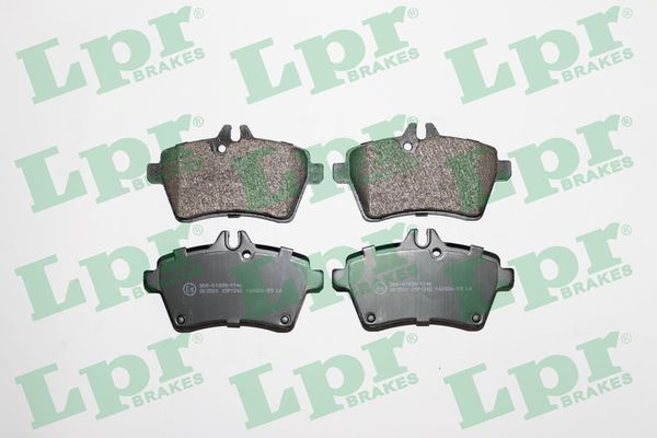 05P1242 LPR Höhe: 64mm, Breite: 116,7mm, Dicke/Stärke: 19,1mm Bremsbelagsatz, Scheibenbremse 05P1242 günstig kaufen