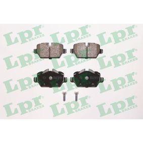 05P1249 LPR mit Schrauben Höhe 1: 51,5mm, Höhe 2: 45mm, Breite: 95,4mm, Dicke/Stärke: 17mm Bremsbelagsatz, Scheibenbremse 05P1249 günstig kaufen