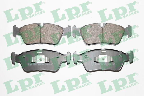 05P1250 LPR Höhe: 57,5mm, Breite 1: 149,5mm, Breite 2: 150mm, Dicke/Stärke: 17,5mm Bremsbelagsatz, Scheibenbremse 05P1250 günstig kaufen