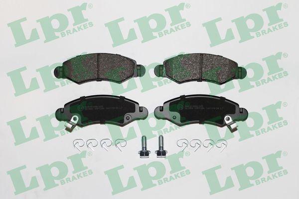 5SP1280 LPR mit Schrauben Höhe: 43,9mm, Breite: 130,7mm, Dicke/Stärke: 15,7mm Bremsbelagsatz, Scheibenbremse 05P1280 günstig kaufen