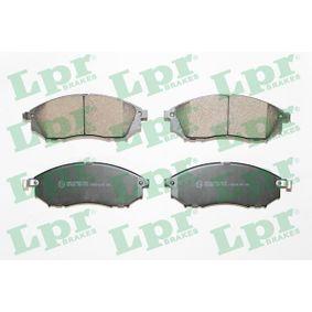 5SP1406 LPR Höhe: 58,4mm, Breite: 157mm, Dicke/Stärke: 17mm Bremsbelagsatz, Scheibenbremse 05P1406 günstig kaufen