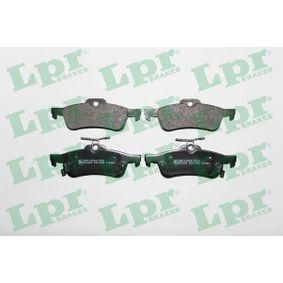 5SP1458 LPR Höhe: 43,7mm, Breite: 123,1mm, Dicke/Stärke: 14,5mm Bremsbelagsatz, Scheibenbremse 05P1458 günstig kaufen