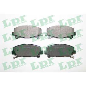 5SP1607 LPR Höhe: 64,7mm, Breite: 151,8mm, Dicke/Stärke: 17mm Bremsbelagsatz, Scheibenbremse 05P1607 günstig kaufen