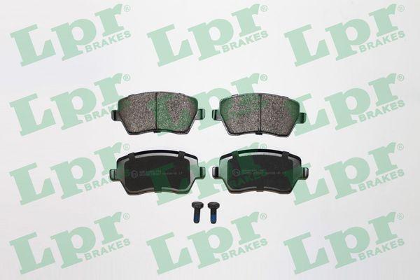 05P867 LPR mit Schrauben Höhe: 52,5mm, Breite: 116,4mm, Dicke/Stärke: 17,3mm Bremsbelagsatz, Scheibenbremse 05P867 günstig kaufen