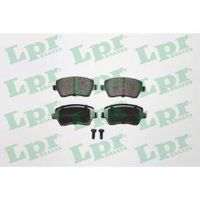 5SP867 LPR mit Schrauben Höhe: 52,5mm, Breite: 116,4mm, Dicke/Stärke: 17,3mm Bremsbelagsatz, Scheibenbremse 05P867 günstig kaufen