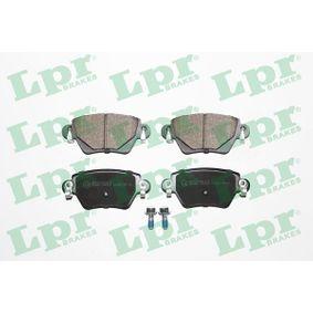 5SP897 LPR mit Schrauben Höhe: 52mm, Breite: 116mm, Dicke/Stärke: 16,8mm Bremsbelagsatz, Scheibenbremse 05P897 günstig kaufen