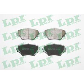 23585 LPR Höhe: 60,3mm, Breite: 123mm, Dicke/Stärke: 17mm Bremsbelagsatz, Scheibenbremse 05P958 günstig kaufen