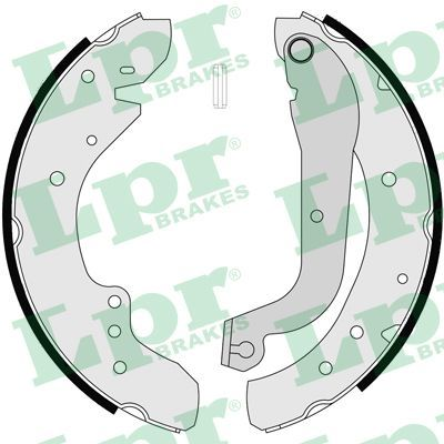 LPR: Original Bremsbackensatz für Trommelbremse 07105 (Breite: 57mm)