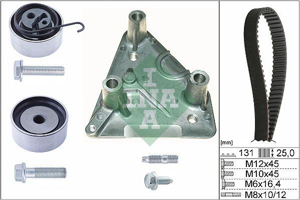 530 0492 10 INA Zähnezahl 1: 131, mit integriertem Motorlager Zahnriemensatz 530 0492 10 günstig kaufen