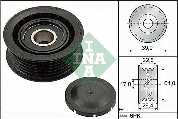 532016010 Poulie renvoi / transmission, courroie trapézoïdale à nervures INA - L'expérience aux meilleurs prix