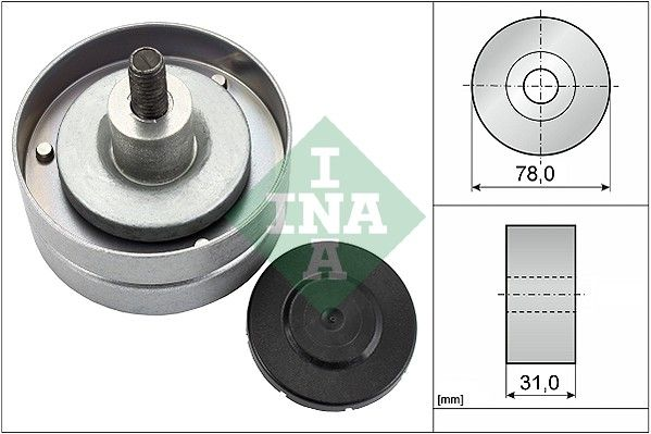 Poulie renvoi / transmission, courroie trapézoïdale à nervures INA pour GINAF, n° d'article 532 0414 10