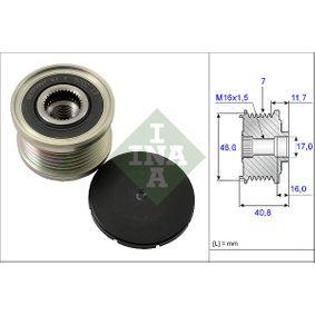 535 0080 10 INA Breite: 40,8mm, Spezialwerkzeug zur Montage notwendig Generatorfreilauf 535 0080 10 günstig kaufen