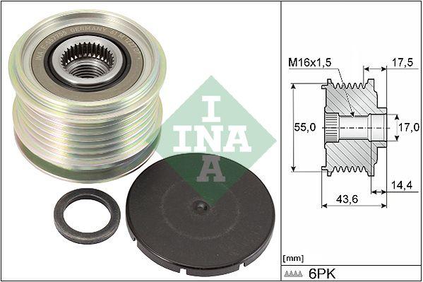 535 0105 10 INA Breite: 43,6mm, Spezialwerkzeug zur Montage notwendig Generatorfreilauf 535 0105 10 günstig kaufen