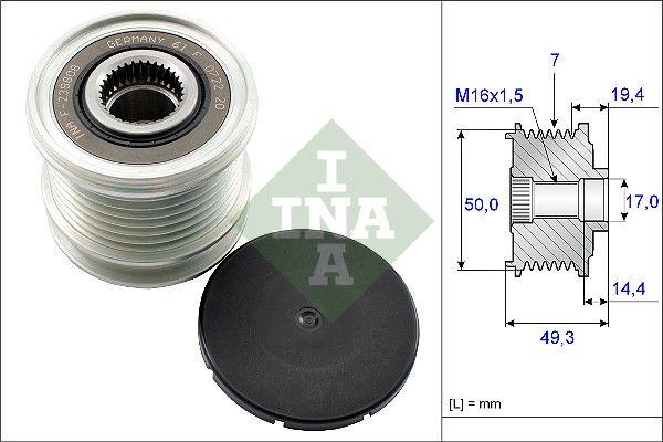 INA: Original Generatorfreilauf 535 0140 10 ()