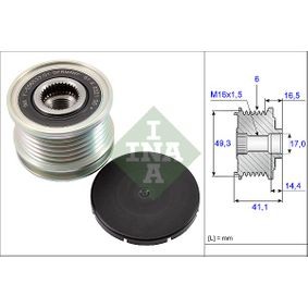 535 0178 10 INA Breite: 41,1mm, Spezialwerkzeug zur Montage notwendig Generatorfreilauf 535 0178 10 günstig kaufen