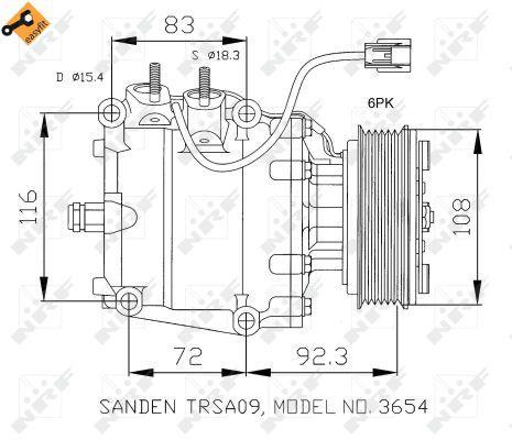 Original HONDA Kompressor 32072