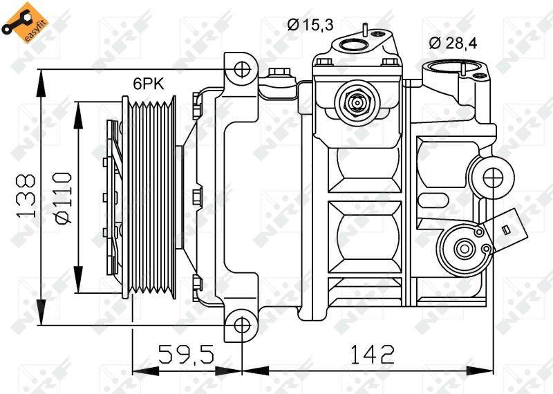 NRF | Klimakompressor 32147