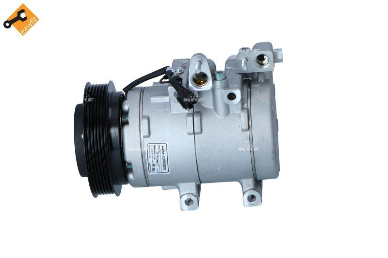 32204 NRF PAG 46, Kältemittel: R 134a, mit PAG-Kompressoröl Riemenscheiben-Ø: 128mm, Anzahl der Rillen: 6 Klimakompressor 32204 günstig kaufen