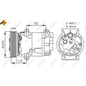 32208 Kompressor, Klimaanlage NRF in Original Qualität