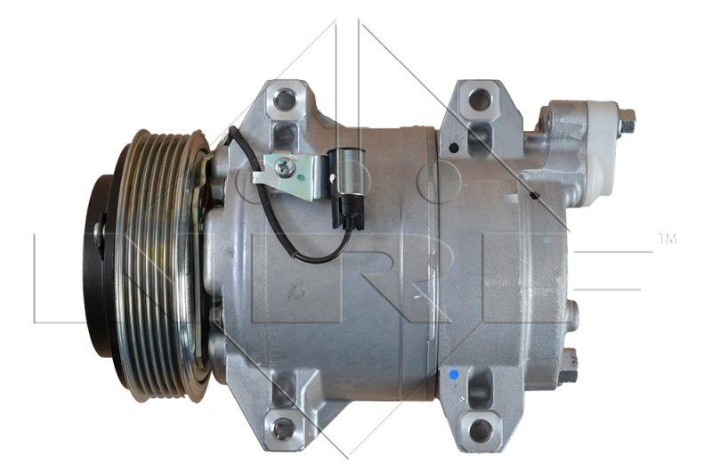 32211 NRF EASY FIT PAG 100, Kältemittel: R 134a, mit PAG-Kompressoröl Riemenscheiben-Ø: 119mm, Anzahl der Rillen: 6 Kompressor, Klimaanlage 32211 günstig kaufen