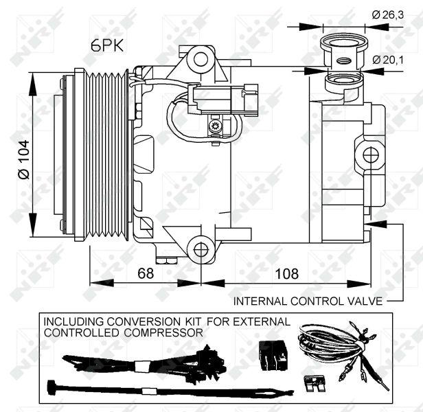 32428 Klimakompressor NRF in Original Qualität
