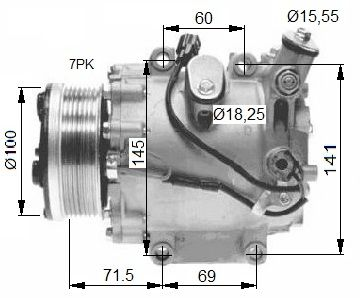 Original HONDA Kompressor Klimaanlage 32491