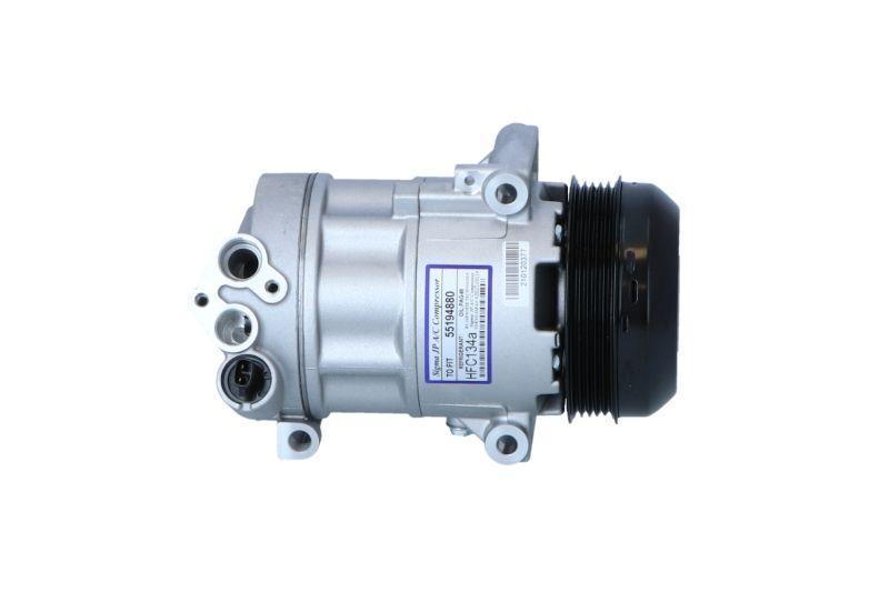 32543 NRF PAG 46, Kältemittel: R 134a, mit PAG-Kompressoröl Riemenscheiben-Ø: 110mm, Anzahl der Rillen: 5 Klimakompressor 32543 günstig kaufen