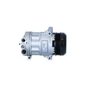 32543 NRF PAG 46, Kältemittel: R 134a, mit PAG-Kompressoröl Riemenscheiben-Ø: 110mm, Anzahl der Rillen: 5 Kompressor, Klimaanlage 32543 günstig kaufen