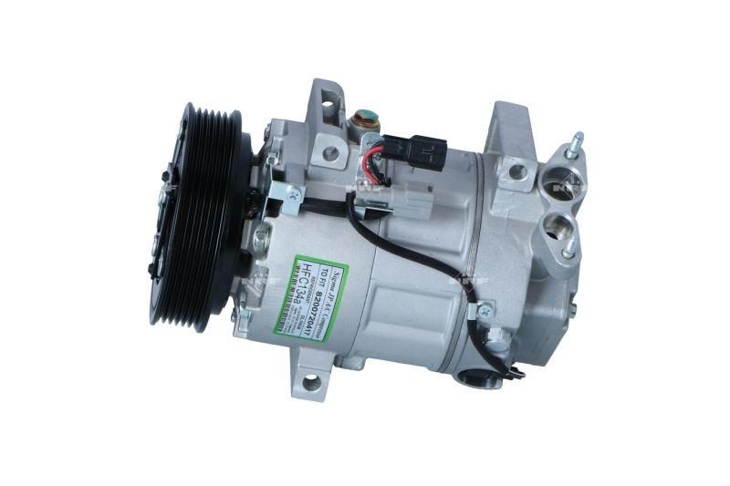 32670 NRF PAG 46, Kältemittel: R 134a, mit PAG-Kompressoröl Riemenscheiben-Ø: 120mm, Anzahl der Rillen: 6 Klimakompressor 32670 günstig kaufen