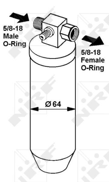 Achetez Déshydrateur de clim NRF 33068 (Ø: 64mm, Hauteur: 212mm) à un rapport qualité-prix exceptionnel