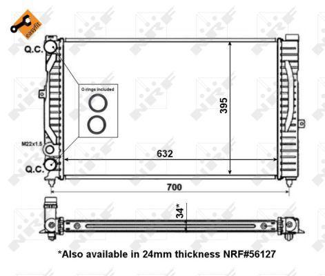 509504 Kühler, Motorkühlung NRF Test