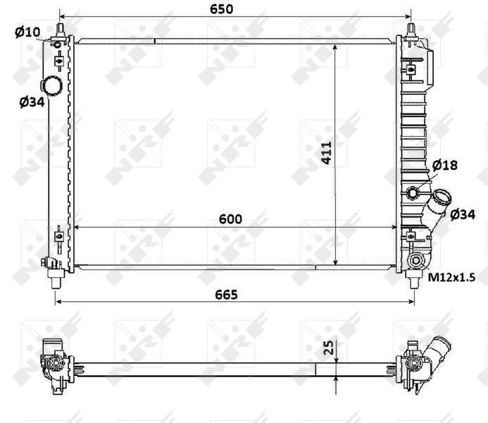 53903 NRF Kühlrippen gelötet, Aluminium Kühler, Motorkühlung 53903 günstig kaufen