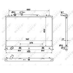 53904 NRF Kühlrippen gelötet, Aluminium Kühler, Motorkühlung 53904 günstig kaufen