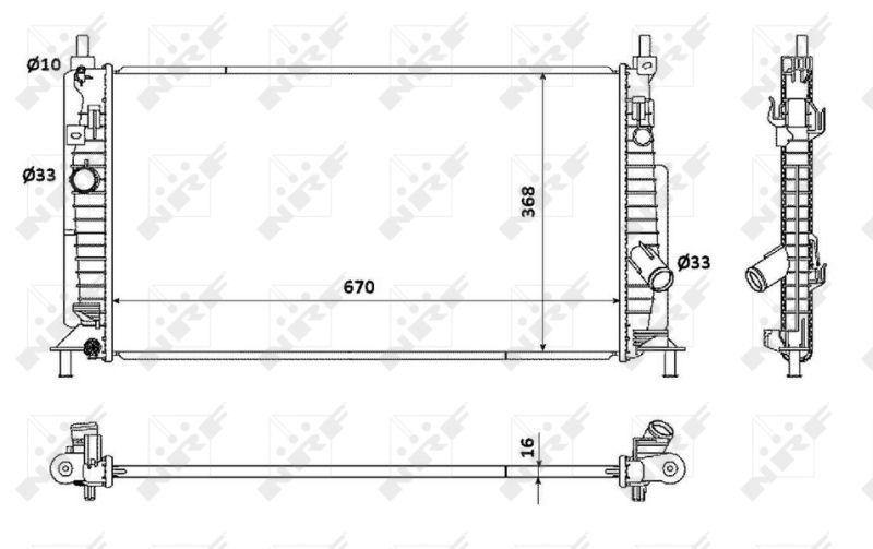 53905 NRF Kühlrippen gelötet, Aluminium Kühler, Motorkühlung 53905 günstig kaufen