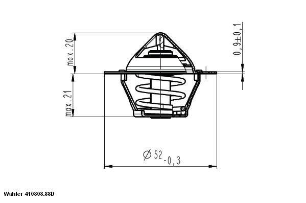 Termostat, kylvätska WAHLER 410808.88D Recensioner