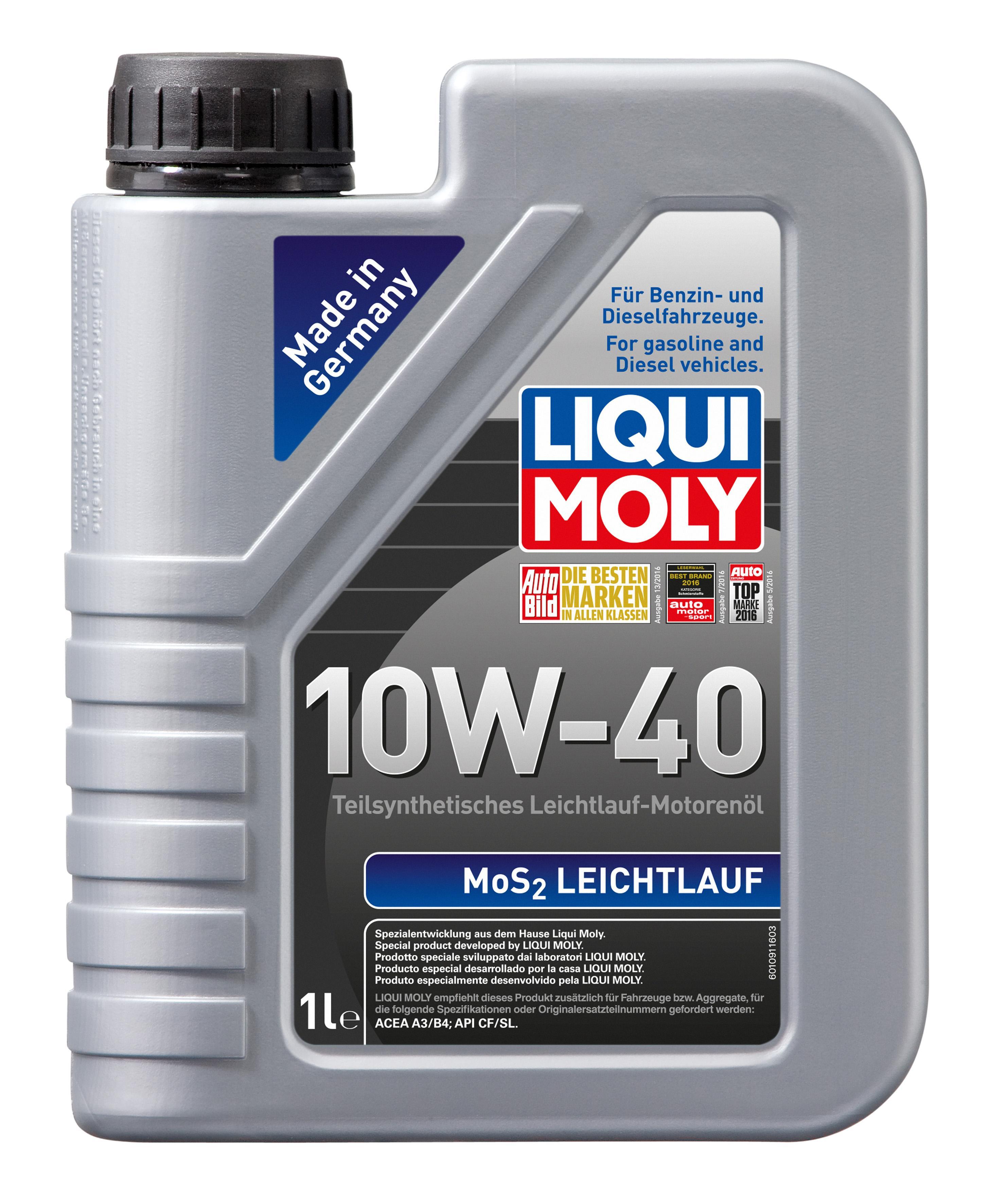 MoS2Leichtlauf10W40 LIQUI MOLY МoS2, Leichtlauf 10W-40, 1l, Teilsynthetiköl Motoröl 1091 günstig kaufen