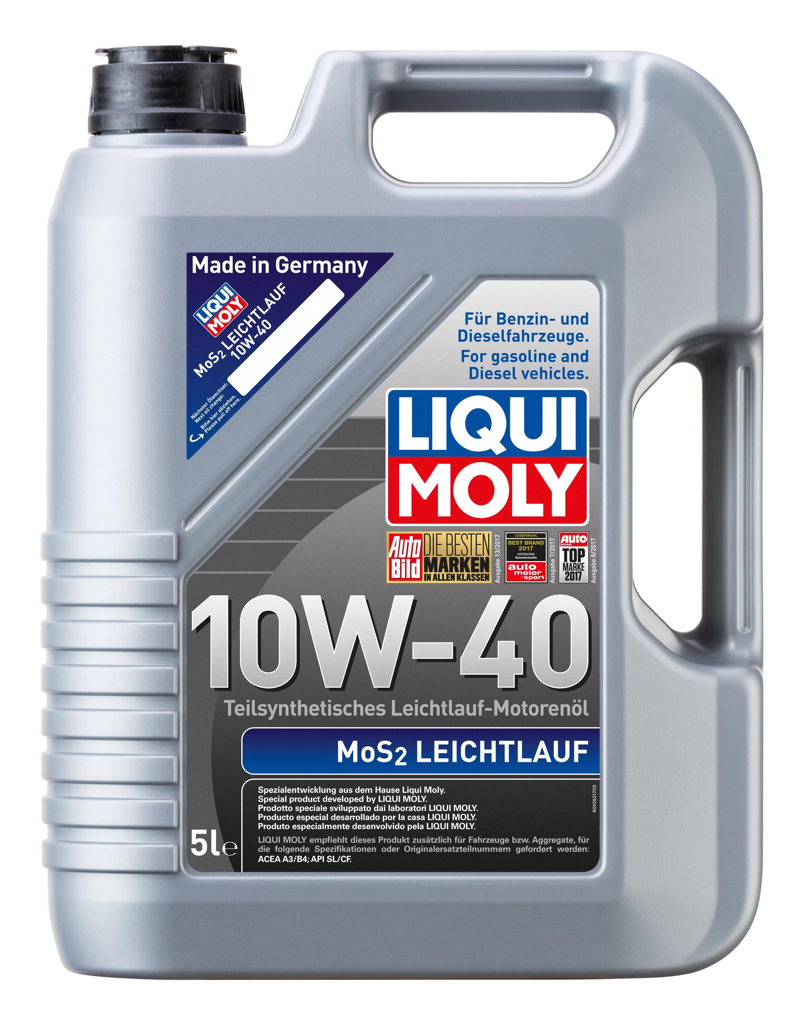 LIQUI MOLY МoS2, Leichtlauf Moottoriöljy 1092 - Osta nyt!