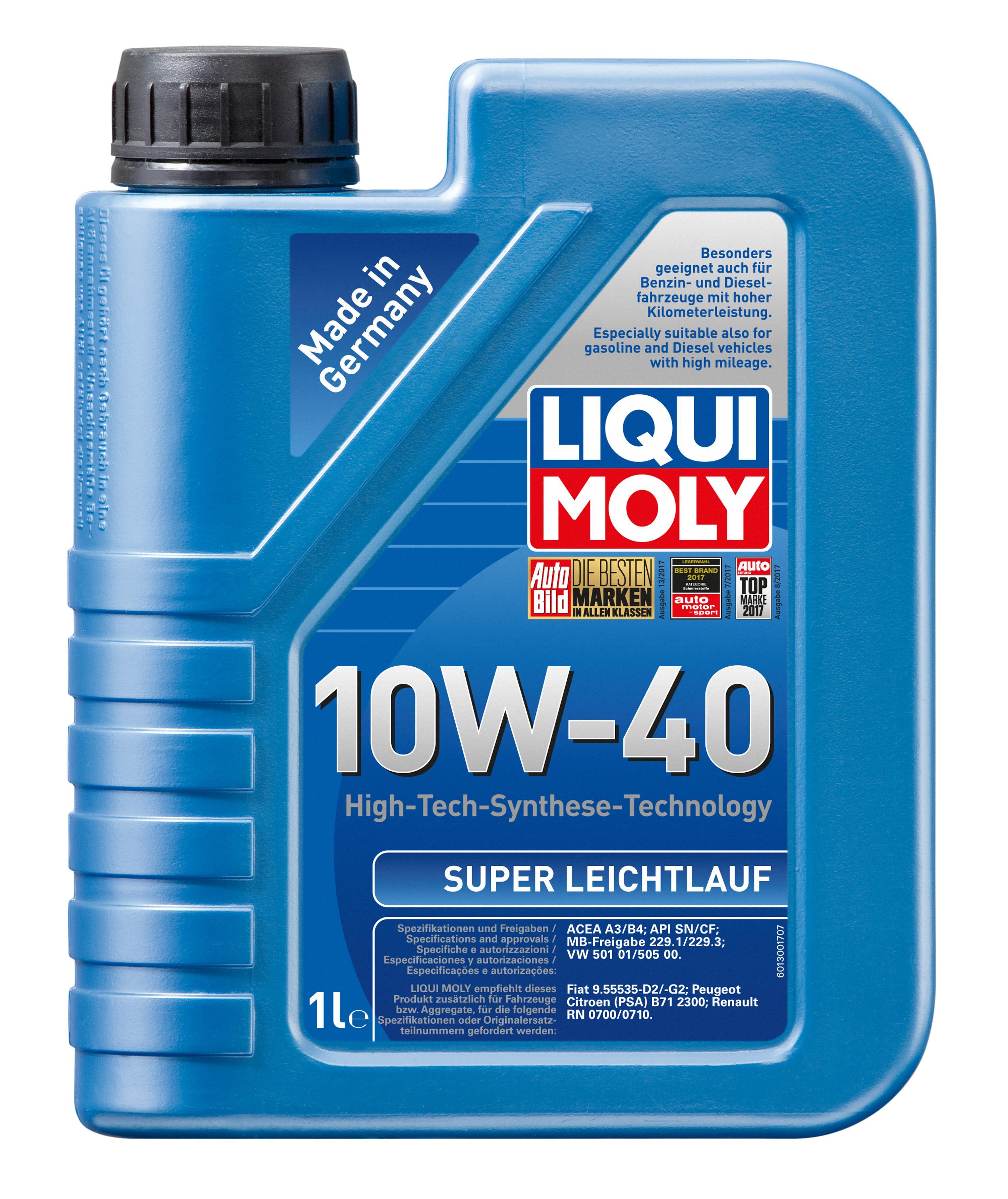 Купете SuperLeichtlauf10W40 LIQUI MOLY Leichtlauf, Super 10W-40, съдържание: 1литър Двигателно масло 1300 евтино