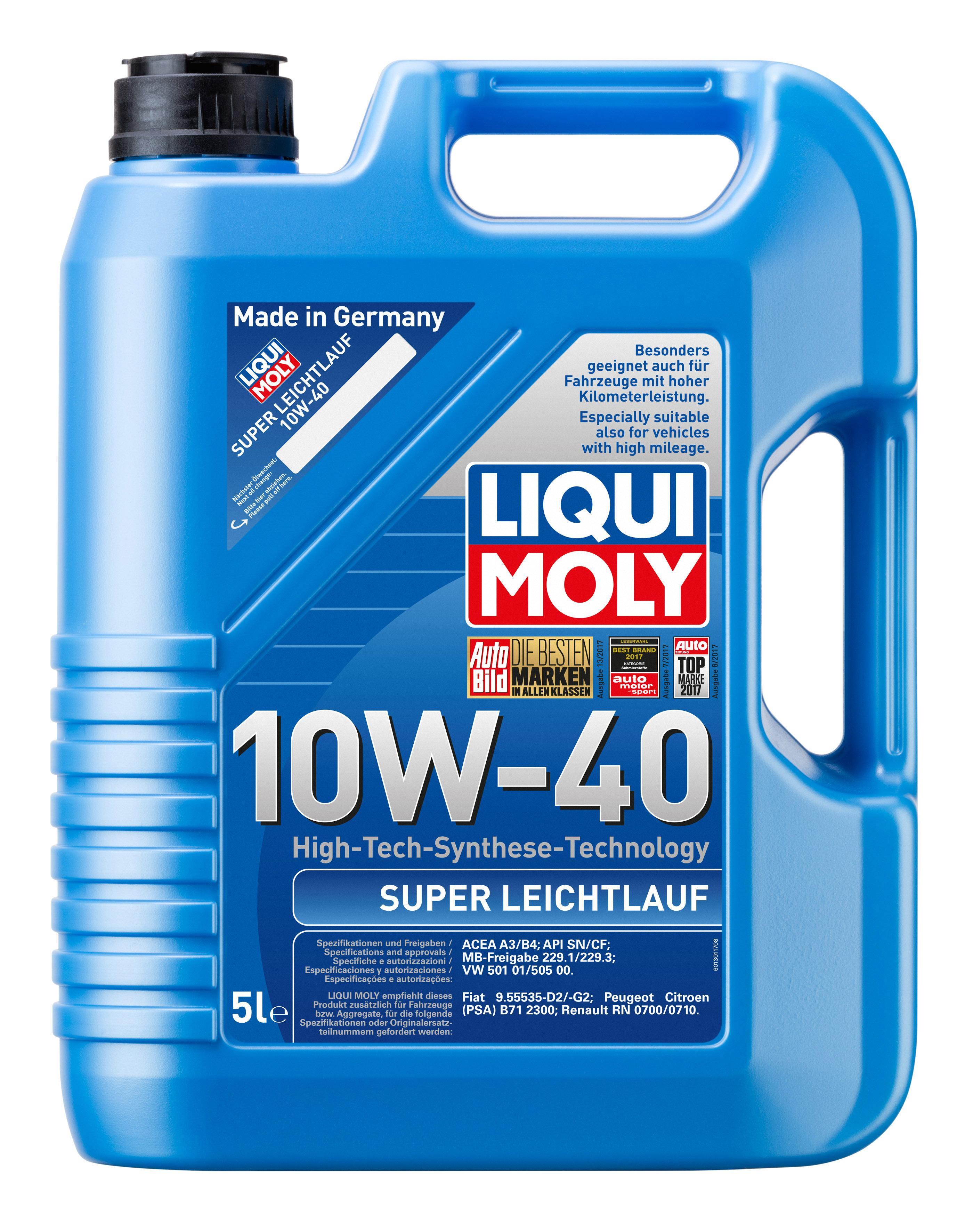 Achat de SuperLeichtlauf10W40 LIQUI MOLY Leichtlauf, Super 10W-40, Capacité: 5I Huile moteur 1301 pas chères