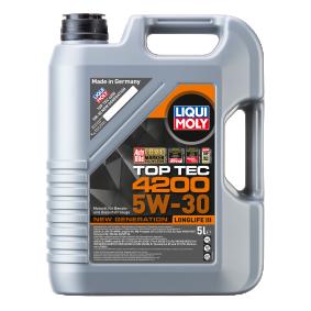 LIQUI MOLY Top Tec, 4200 5W-30, 5l, Plne synteticky olej Motorový olej 3707 kupte si levně